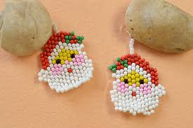 earrings ideas earring ideas how to make santa claus earrings for