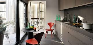 cuisine taupe mat taupe and modern minimalist kitchen with chairs cuisine