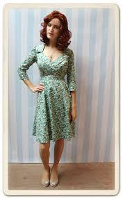 gabrielle dress in duck egg rambling rose nancy mac