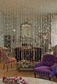 Mirror Curtain Living Room With Wall Mirror And Beaded Curtains Beaded Curtains