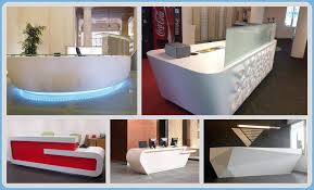 Commercial Reception Desks by Acrylic Solid Surface Stone Commercial Reception Desk For Hotel