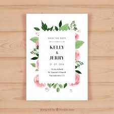 wedding invitations freepik pretty wedding invitation with pink flowers vector free
