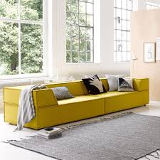 modular sofa contemporary fabric 3 seater trio by team