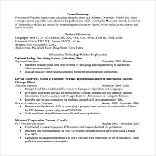 software engineer resume sle software developer resume 10 free documents in