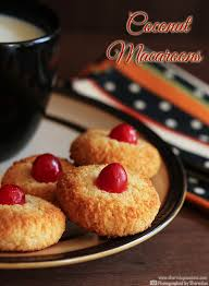 eggless coconut macaroons recipe sharmis passions