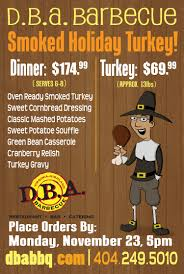thanksgiving email format events specials u2014 d b a barbecue
