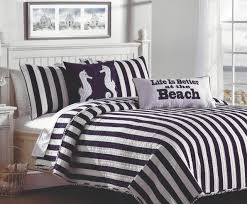 navy white cabana striped bedding set tropical quilts and quilt sets
