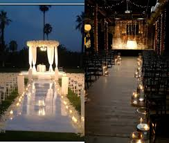 romantic candle lit walk down aisle ideas for wedding