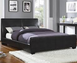 Black Leather Sleigh Bed Black Leather Vinyl Queen Bed Beds 2017 With Sleigh Pictures