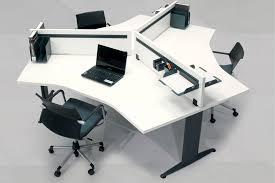 Office Workstation Desk Workstation Desk Wooden Contemporary Commercial Matrix