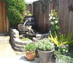 backyard water feature diy home outdoor decoration