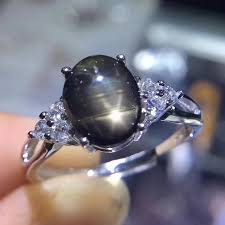 rings star sapphire images Fidelity natural 7 9mm star sapphire ring s925 sterling silver jpg