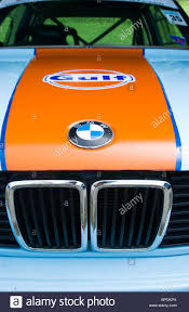 bmw grill bonnet and radiator grill of classic bmw 3 series in traditional