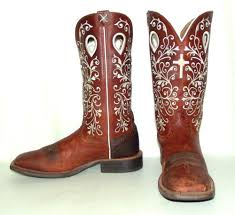 womens cowboy boots size 9 twisted x womens cowboy boots brown leather white cross size 9 b