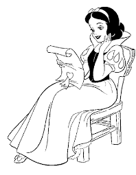 snow white coloring cute coloring pages kids