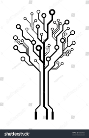 technology electronic tree made wires stock illustration 99260669