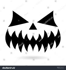 scary halloween pumpkin face vector design stock vector 709401499