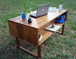 Office Desks Wood Stunning Reclaimed Wood Desks