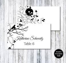halloween wedding table tents template diy printable crow