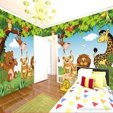 Cartoon Wall Mural Forest Animals Animation Children Room D Mural - Girls bedroom wall murals