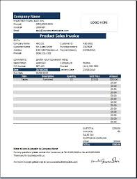 Ms Excel Invoice Template Ms Excel Product Sales Invoice Template Word Excel Templates