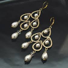 and pearl chandelier earrings gold chandelier earrings thesecretconsul
