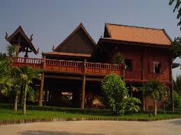 traditional house cambodian wooden traditional house picture of tranquility of