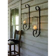 Mexican Wall Sconce Candle Holders Metal Hanging Decorative Crystal Wood Wall