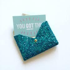 glitter card holder by duck duffel notonthehighstreet