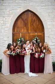 picture wine colored bridesmaid dress