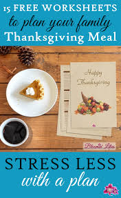 15 free worksheets to plan your thanksgiving family event meal
