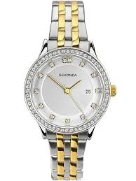 gold ladies bracelet watches images Sekonda ladies harmony two tone gold plated silver stone set jpg