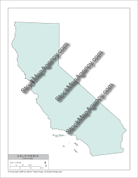 California Map Outline Stockmapagency Com Simple Outline Map Of California Available As
