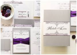 silver wedding invitations purple and silver wedding invitations gourmet invitations
