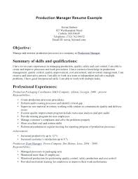 supervisor resume templates quality resume templates doc production supervisor resume exle