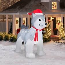 Christmas Outdoor Decorations Dog by Christmas Inflatable Dog Inflatable Shiba Inu Outdoor Dog