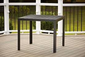 Durable Patio Furniture Amazon Com Cosco Outdoor Resin Slat Square Dining Table 35 4 By