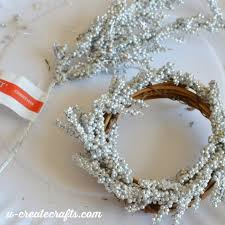 mini wreath ornaments u create