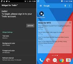 widget android top 4 third trello apps and widgets for android