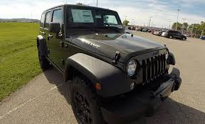 jeep willys 2015 4 door 2015 jeep wrangler unlimited willys wheeler tank green