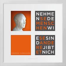 Hochwertige K Hen Konrad Adenauer Wortkunst3 Kluge Gedanken In 3d