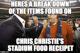 Chris Christie Memes - meme d from the headlines chris christie s food bill at giant s