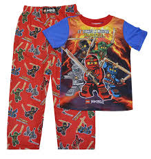 lego ninjago boys sleeve poly pajamas 10 12