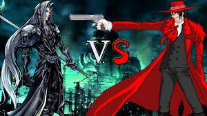 hellsing sephiroth final fantasy vii vs alucard hellsing español