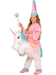 Unicorn Costume Inflatable Fairy On A Unicorn Costume For Girls Vegaoo