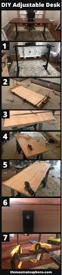 Adjustable Standing Desk Diy How To Build A Diy Adjustable Standing Desk Step By Step Photos