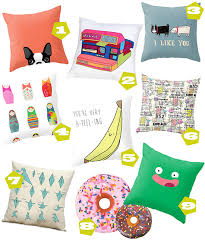 Quirky Home Decor Color Your Home With Quirky Pillows Live Colorful