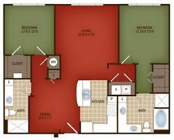 Split Two Bedroom Layout Metro At Brady Downtown Tulsa Floor Plans
