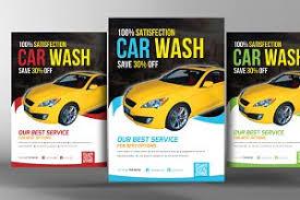 car wash flyer flyer templates creative market