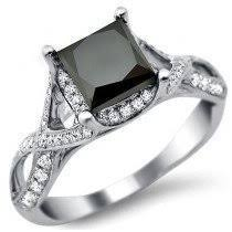 black princess cut engagement rings buy black engagement rings shop now and save